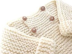 Garter Stitch Baby Sweater - [ EASY Pattern & Tutorial ]
