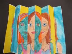 Fourth Grade Zig Zag Paintings Are Complete! Tons of great ideas for older kids too! I am already planning!