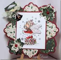 Winter Fairy from Lili of the Valley (LOTV) stamps.