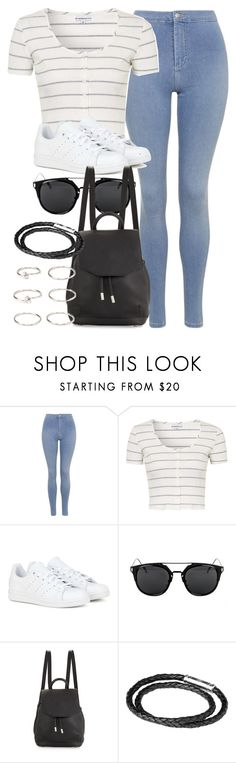 """Style #10245"" by vany-alvarado ❤ liked on Polyvore featuring Topshop, adidas, rag & bone, Links of London and Forever 21"