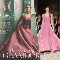 Claire Foy Brings Glamour back on the cover of VOGUE UK in Christian Siriano AW17