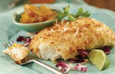 IN Winter 2014 - Coconut Pan-Seared Grouper Fish Recipes, Seafood Recipes, Cooking Recipes, Healthy Recipes, Grouper Fish, Fish Dishes, Bon Appetit, Summer Recipes, Coconut