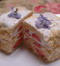 Strawberry mille feuille -  - more here: http://pinned-recipes.net