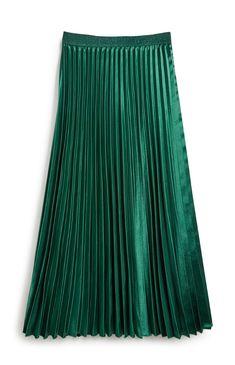 October Lust Haves Satin Skirt, Pleated Midi Skirt, Primark, Fashion Collage, Green Satin, My Wardrobe, Frocks, Tie Dye Skirt, Work Wear