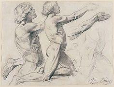 Henri Lehmann, Studies of a Male Nude