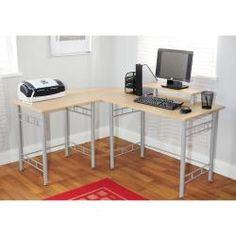 Simple Living L-shaped Natural Computer Desk | Overstock™ Shopping - Great Deals on Simple Living Desks