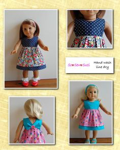 Sewing for American Girl Dolls - using pattern designed by 123 Mulberry Street.  Pattern sold at LibertyJanePatterns.com.