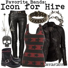 The shirt should be pink but other wise this would be an awesome outfit for tone of heir concerts