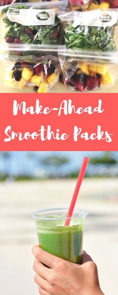 Make green smoothies a habit with make-ahead smoothie packs! No more mess or…