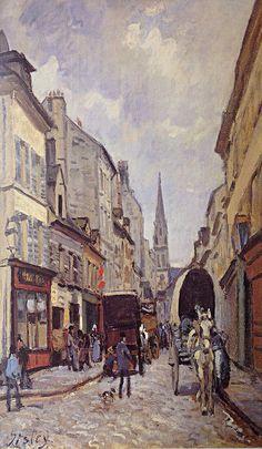 "Alfred Sisley 1872 La Grande Rue Argenteuil. Oil on Canvas 25x18"""