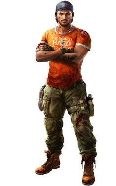 This is another character that is playable in Evil Paradise. This character is called 'John' he is ex military and tough for the zombies to kill.
