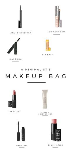 A minimalist makeup bag. All the make up I own and practical tips on how to build your own minimal makeup collection   minimalism   minimalist living tips   simple living   minimal makeup