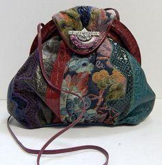 Sharif Vintage Snakeskin Tapestry Croc Leather Clutch Crossbody Bag USA #Sharif #MessengerCrossBody