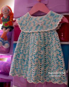 Magia do Crochet: Vestidos em crochet para as mais pequeninas