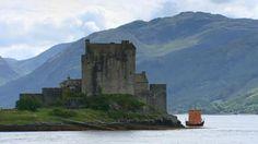 Gaelic Galley passes Eilean Donan