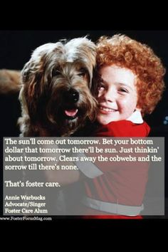 Got Love?  You don't have to be Daddy Warbucks to be a good foster parent. www.fosteryes.org  1-877-FOSTER Yes #fostercare #fosterparent #fosterchild