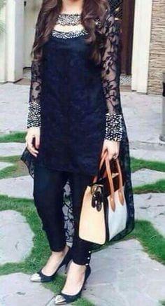 Pakistani Dresses Casual, Indian Fashion Dresses, Pakistani Dress Design, Indian Designer Outfits, Indian Outfits, Fashion Outfits, Designer Clothing, Stylish Dresses For Girls, Stylish Dress Designs