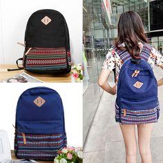 Damen Mädchen Tagesrucksack Vintage Rucksack  Schultasche backpack daypack