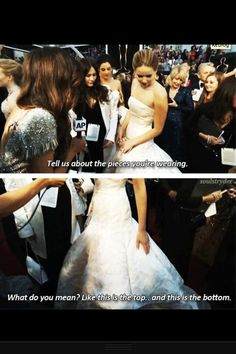 Hahaha I love her. And this links to awesome GIFs of her at the Oscars!