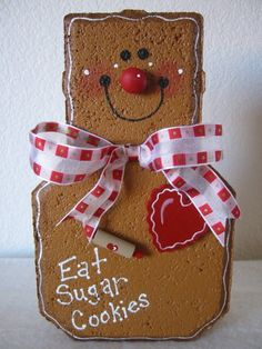 Gingerbread Man Patio Person by SunburstOutdoorDecor on Etsy Painted Bricks Crafts, Brick Crafts, Painted Pavers, Concrete Crafts, Gingerbread Crafts, Christmas Gingerbread, Christmas Ornaments, Snowman Crafts, Gingerbread Houses