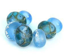 sea glass collectionlampwork beads SRA by kreationsbykarenk, $14.00