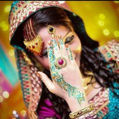 Coloured henna.