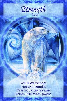 """""""Strength"""" Magical Times Empowerment Cards par Jody Bergsma"""