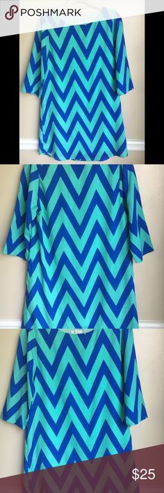 """Everly dress Everly chevron dress size small. In great condition. 17"""" armpit to armpit. 33"""" from top of Shoulder to bottom of dress. Everly Dresses"""