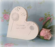 Make a Wish Double Sided Heart with dandalion detail with 'make a wish' text by handmadebydebmac on Etsy https://www.etsy.com/listing/229158639/make-a-wish-double-sided-heart-with
