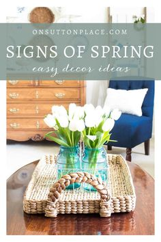 A curated collection of easy and budget friendly spring decor ideas. Includes spring banners, spring flower arrangements, spring porch decor and more!