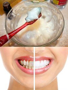 Co będzie potrzebne: - 6 łyżek sody oczyszczonej, - 2 łyżki ciepłego oleju kokosowego, - Pół łyżeczki soli morskiej, - 10 kropli olejku mięty, - małą miskę, - pojemniczek do przechowywania pasy,  Przygotoanie: Wszytkie składniki bardzo dokładnie mieszać aż pasta będzie przypominać zwykłą pastę do zębów. Przelać mieszankę do pojemnika i można korzystać od razu.