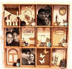 Printer Tray - idea, hang beads or put other small mementos on tray, make a small ball of yarn, letters in separate slots to spell out l-o-v-e Printers Drawer, Shadow Box, Yarn Letters, Printer Tray, Paper Crafts, House Design, Photo And Video, Antiques, Trays