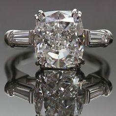 Harry Winston Vintage Platinum Diamond Engagement Ring