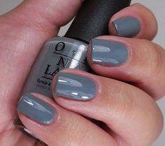 Opi 50 shades of grey collection nailed it perfect ногти, ма Opi Gel Polish, Grey Nail Polish, Gel Polish Colors, Grey Gel Nails, Opi Nails, Nail Polishes, Manicures, Acrylic Nails, Pretty Nail Colors