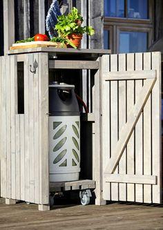 Tee kaappi kaasupullolle | Meillä kotona Cosy Interior, Summer Cabins, Relaxing Places, Summer Kitchen, Fire Pit Backyard, Pergola Patio, Garden Cottage, Outdoor Areas, Pool Houses
