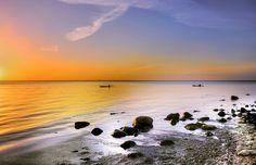 Free stock photo of beach calm dawn