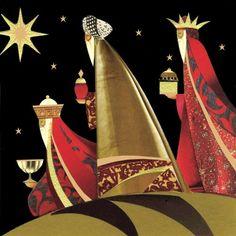 Poppy Shop We Three Kings Christmas Cards Christmas Nativity, Noel Christmas, Retro Christmas, All Things Christmas, Christmas Crafts, Christmas Decorations, Christmas Ornaments, Christmas Drawing, Christmas Paintings