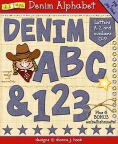 You'll have a blast creating with our bold,  'Denim Alphabet' download... 'cause denim never goes out of style! 'Wear' them with cowboys, camping, farm animals, teens and MORE!  http://www.djinkers.com/clipart/fun/denim-clipart-alphabet-download.html