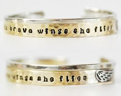 Graduation Gift / With Brave Wings She Flies / Inspirational Bracelet / Gift for Her / Graduation Jewelry / Inspirational Gift / Wing by amywaltz #TrendingEtsy