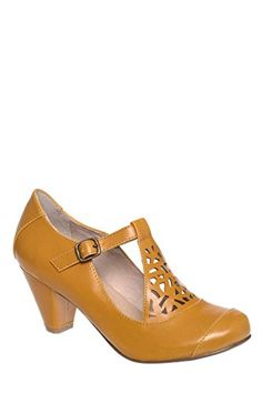 Buy Chelsea Crew MOD T- Strap Heels, Mustard - Topvintagestyle.com ✓ FREE DELIVERY possible on eligible purchases