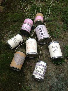 Wedding Customized GetAway Car Tin Cans Set of 8 by thebeezeknees