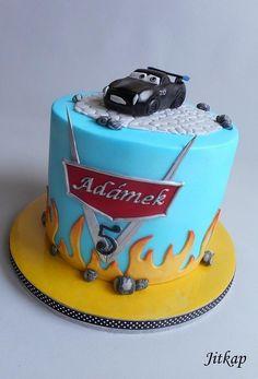 Cars 3 cake Mcqueen Cake, Coffee Cake, Birthday Cake, Car Cakes, Desserts, Disney Cars, Kids, Pies, Tailgate Desserts