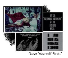 """Love yourself first."" by italia-kun ❤ liked on Polyvore featuring art"
