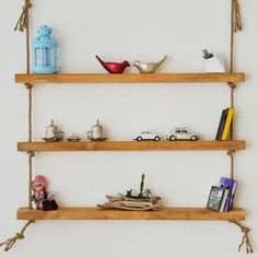 Massive Handmade Brown Floating Shelves Custom Jewelry Design, Custom Design, Wood Shelves, Floating Shelves, All Wall, Natural Wood, Home Accessories, House Design, Brown