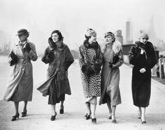 Throwing on a long fur coat and coordinating hat was clearly the move back in 1935.