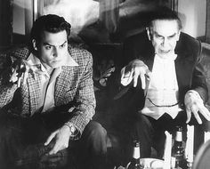 "Johnny Depp as Ed Wood and Martin Landau as Bela Lugosi (Oscar for Best Supporting Actor) in director Tim Burton's ""Ed Wood""."