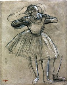 Edgar Degas - Note how the artist reworks various parts of the drawing next to the original without removing any parts of the original rendering.