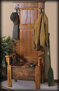 Reclaimed Barnwood Deacon's Bench