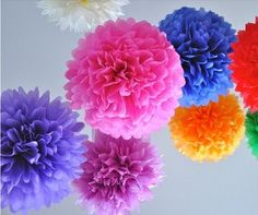 Items similar to Tissue Paper Ball Wedding Decoration Pom Poms Party Birthday Bridal Flower Ball Celebration Gift on Etsy Tissue Paper Ball, Paper Flower Ball, Paper Balls, Tissue Paper Flowers, Diy Flowers, Flower Decorations, Wedding Flowers, Paper Poms, Wedding Decorations