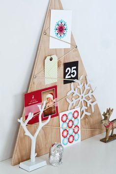 wooden christmas tree wood alternative - houten kerstboom creatieve alternatieve